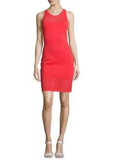 MICHAEL Michael Kors Mesh-Trim Sleeveless Sweater Dress