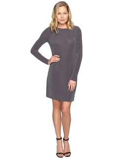 MICHAEL Michael Kors Metal Dot Long Sleeve Boat Neck Dress