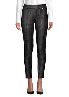 MICHAEL Michael Kors Metallic Banded Leggings