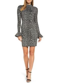 MICHAEL Michael Kors Metallic Cheetah Sheath Dress