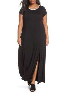 MICHAEL Michael Kors Metallic Crewneck Maxi Dress (Plus Size)