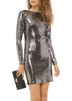 MICHAEL Michael Kors Metallic Dot-Embellished Mini Dress