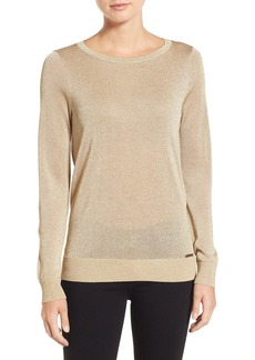 MICHAEL Michael Kors Metallic Drape Back Sweater