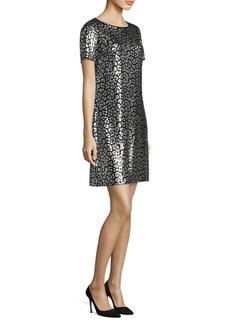MICHAEL MICHAEL KORS Short Sleeve Sequin Dress