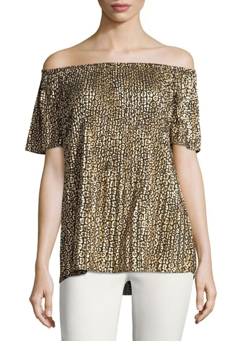 0966606976583 MICHAEL Michael Kors MICHAEL MICHAEL KORS Metallic Floral Off-the ...