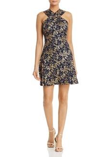 MICHAEL Michael Kors Metallic Floral-Print Dress