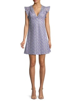 MICHAEL Michael Kors Metallic Flower Flutter Dress
