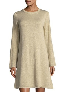 MICHAEL Michael Kors Metallic Knit Sweaterdress