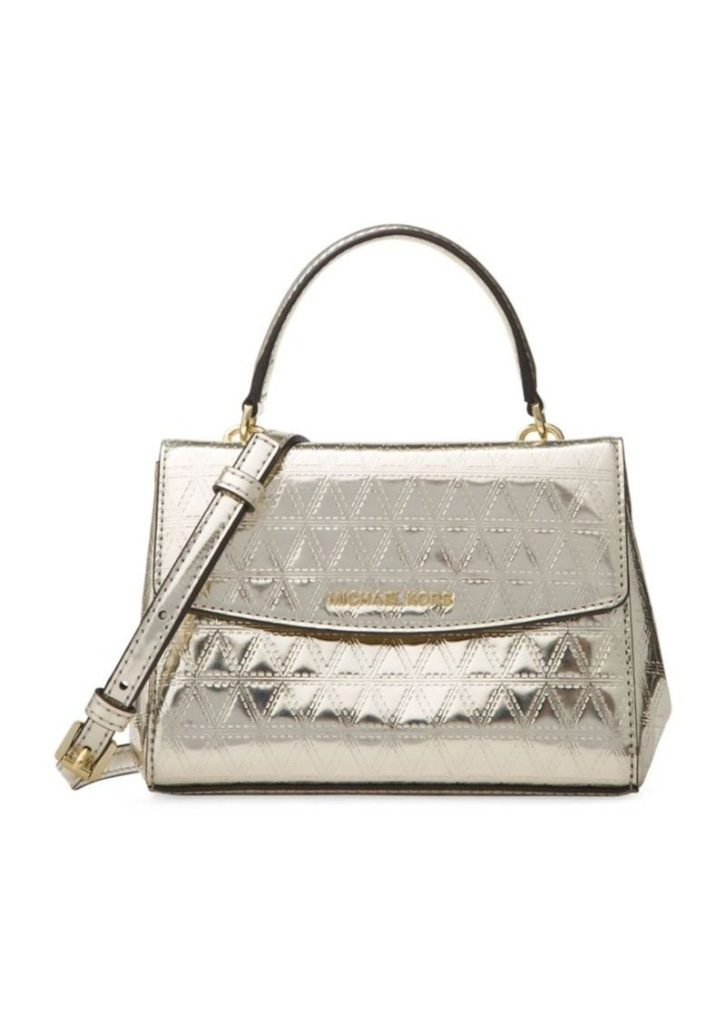 f43ae37b28d9 SALE! MICHAEL Michael Kors MICHAEL MICHAEL KORS Metallic Leather ...