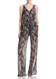 MICHAEL Michael Kors Metallic Palm Print Jumpsuit