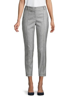 MICHAEL Michael Kors Metallic Pintuck Cropped Pants