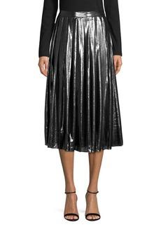 MICHAEL Michael Kors Metallic Pleated Skirt