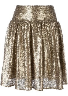 MICHAEL Michael Kors metallic sequin pleated skirt