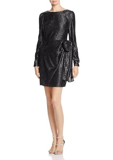 MICHAEL Michael Kors Metallic Tie-Detail Wrap Dress