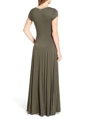 f1b416016c92 ... MICHAEL Michael Kors Metallic Trim Jersey A-Line Maxi Dress (Regular &  Petite)