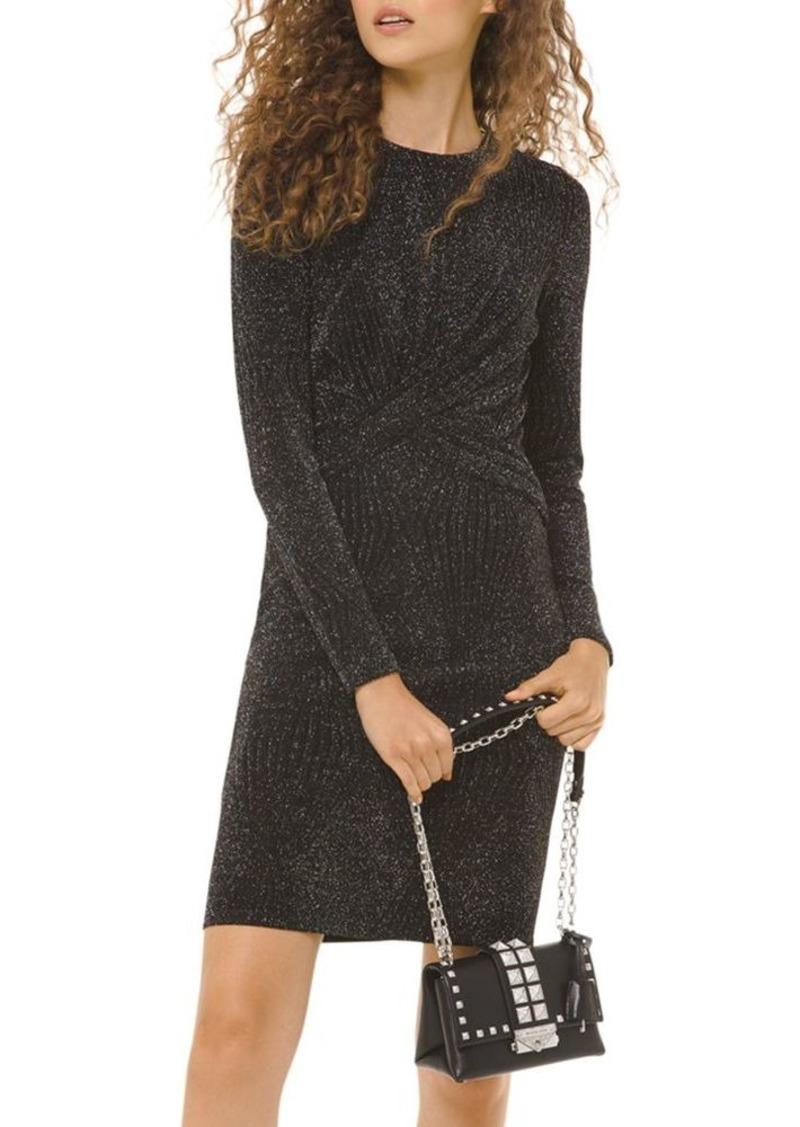 MICHAEL Michael Kors Metallic Twist-Front Mini Dress