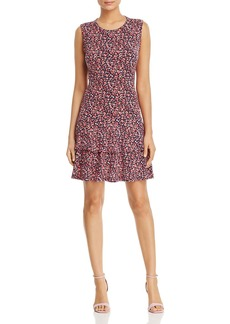 MICHAEL Michael Kors Micro-Floral Tiered Ruffle Dress