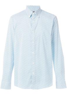 Michael Michael Kors micro-print slim-fit shirt - Blue