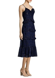 MICHAEL Michael Kors Mid-Length Ruffle Midi Dress