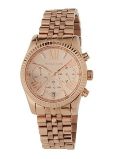 MICHAEL Michael Kors Mid-Size Rose Golden Stainless Steel Lexington Chronograph Watch
