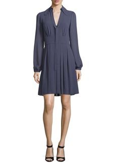 MICHAEL Michael Kors Mini-Dot Long-Sleeve Dress