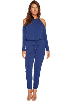 MICHAEL Michael Kors Mini Leaf Cold Shoulder Jumpsuit