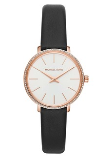 MICHAEL Michael Kors Mini Pyper Leather Strap Watch, 32mm