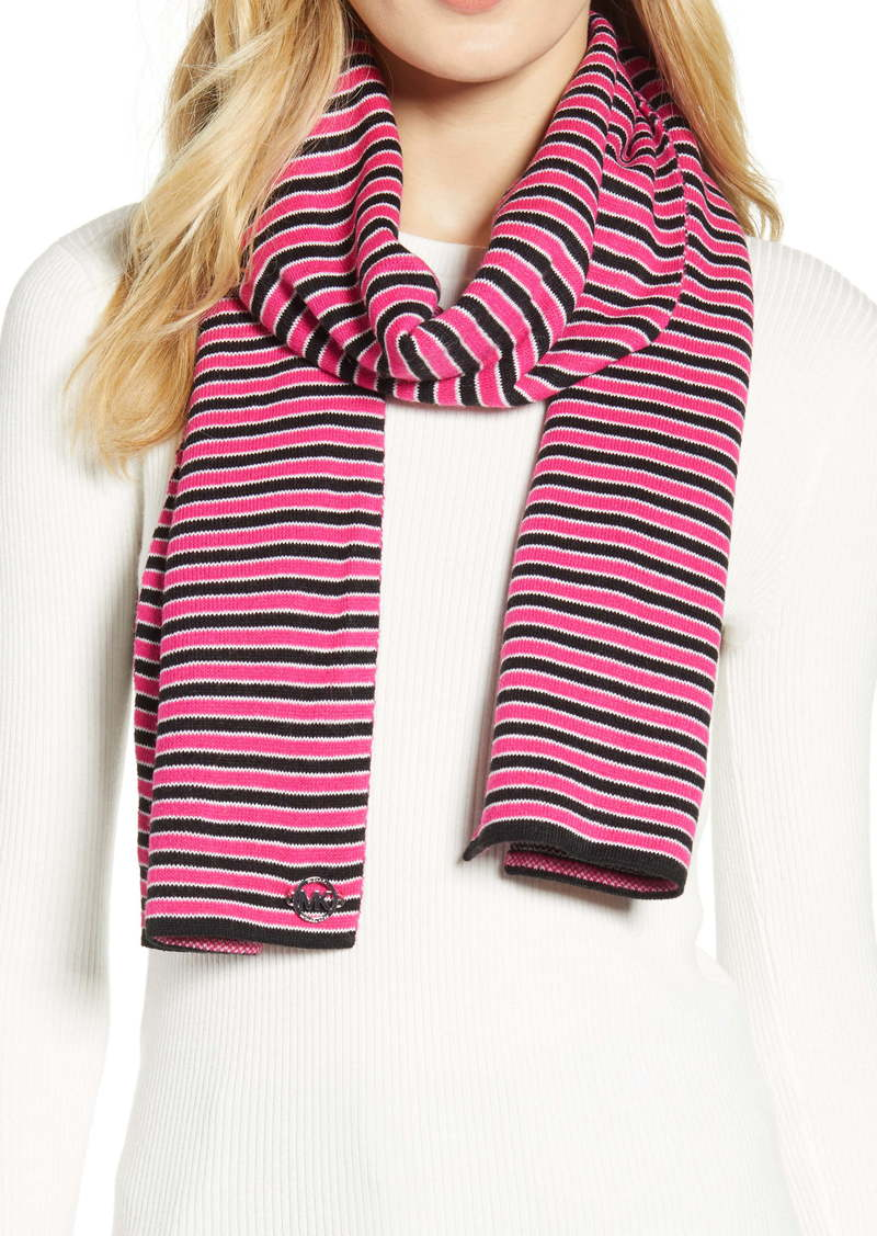 MICHAEL Michael Kors Mini Ribbon Stripe Knit Scarf