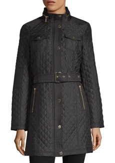 MICHAEL Michael Kors Missy Quilted Trench Jacket