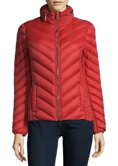 MICHAEL MICHAEL KORS Short Chevron Puffer Jacket