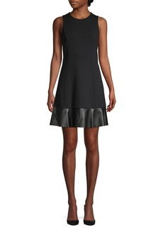 MICHAEL Michael Kors Mixed-Media A-Line Dress