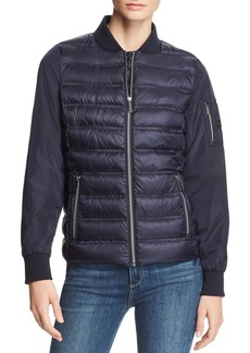 MICHAEL Michael Kors Mixed Media Down Bomber Jacket