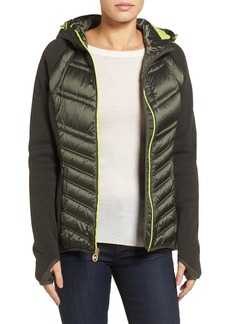 MICHAEL Michael Kors Mixed Media Hooded Down Jacket