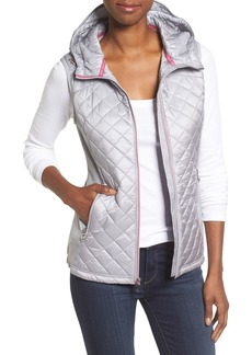 MICHAEL Michael Kors Mixed Media Hooded Front Zip Vest