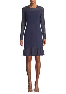 MICHAEL Michael Kors Mixed Media Sheath Dress