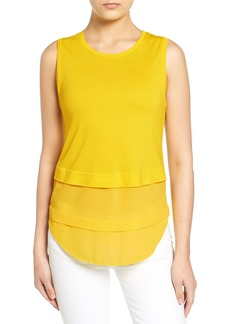 MICHAEL Michael Kors Mixed Media Sleeveless Top (Regular & Petite)