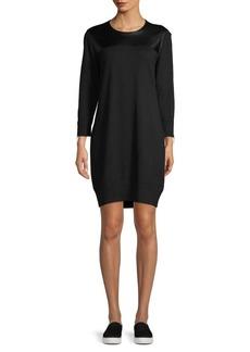 MICHAEL Michael Kors Mixed-Media Sweater Dress