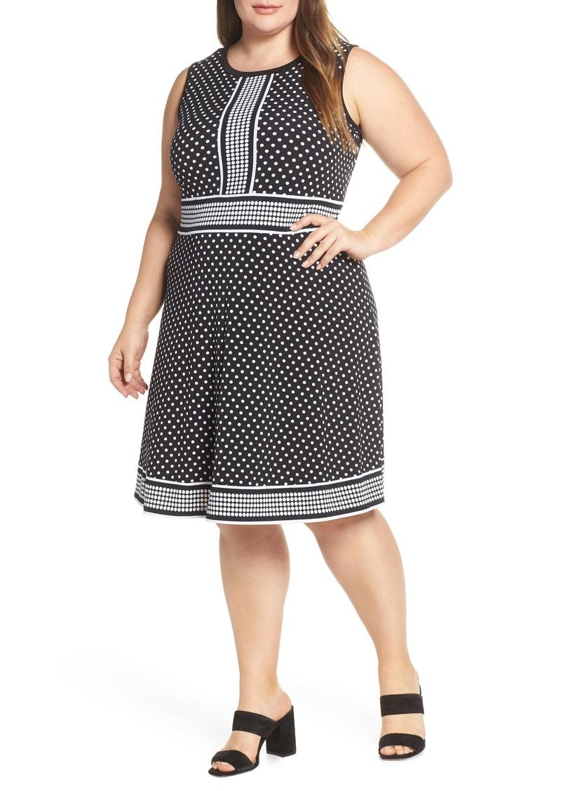 Mixed Polka Dot Dress (Plus Size)