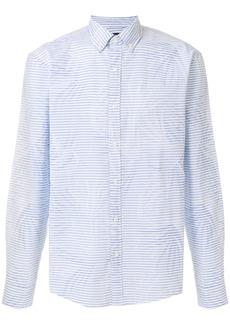Michael Michael Kors mixed-print button-down shirt - Blue
