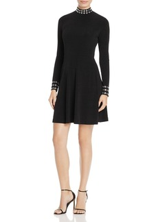 MICHAEL Michael Kors Mock-Neck Grommet Dress