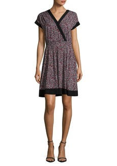 MICHAEL MICHAEL KORS Mock Wrap Floral Print Dress
