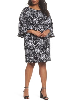 MICHAEL Michael Kors Mod Floral Flutter Sleeve Dress (Plus Size)