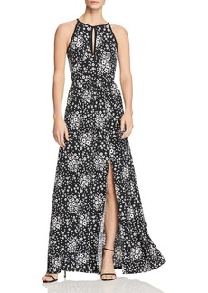 MICHAEL Michael Kors Mod Floral Halter Maxi Dress