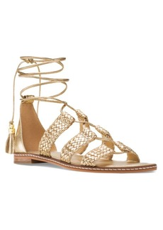 MICHAEL MICHAEL KORS Monterey Leather Gladiator Lace-Up Sandals