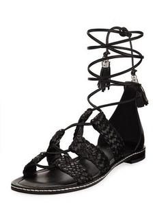 MICHAEL Michael Kors Monterey Woven Lace-Up Flat Gladiator Sandal
