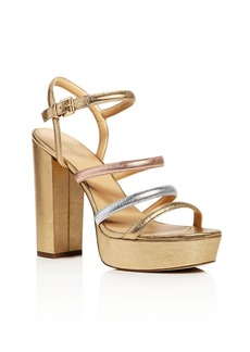 MICHAEL Michael Kors Nantucket Metallic Platform High Heel Sandals