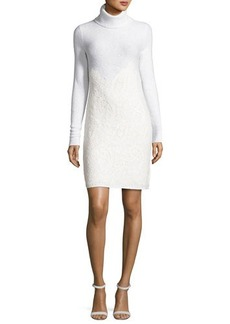 MICHAEL Michael Kors Needle-Punched Lace Sweater Dress