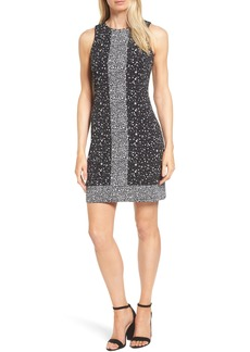 MICHAEL Michael Kors Nora Border Print Sheath Dress (Regular & Petite)