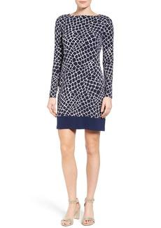 MICHAEL Michael Kors Nyla Border Croc Print Shift Dress (Regular & Petite)