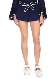 MICHAEL Michael Kors Obi Belt Cotton Shorts